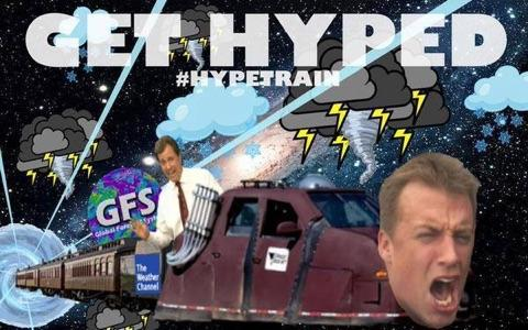 Hype train featuring Reed Timmer and infamous OK Met Mike Morgan.   No idea who to credit with this masterpiece.