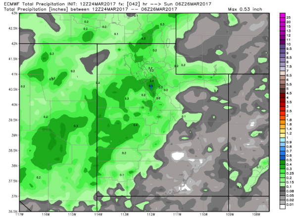 Precipitation Forecast from ECMWF model
