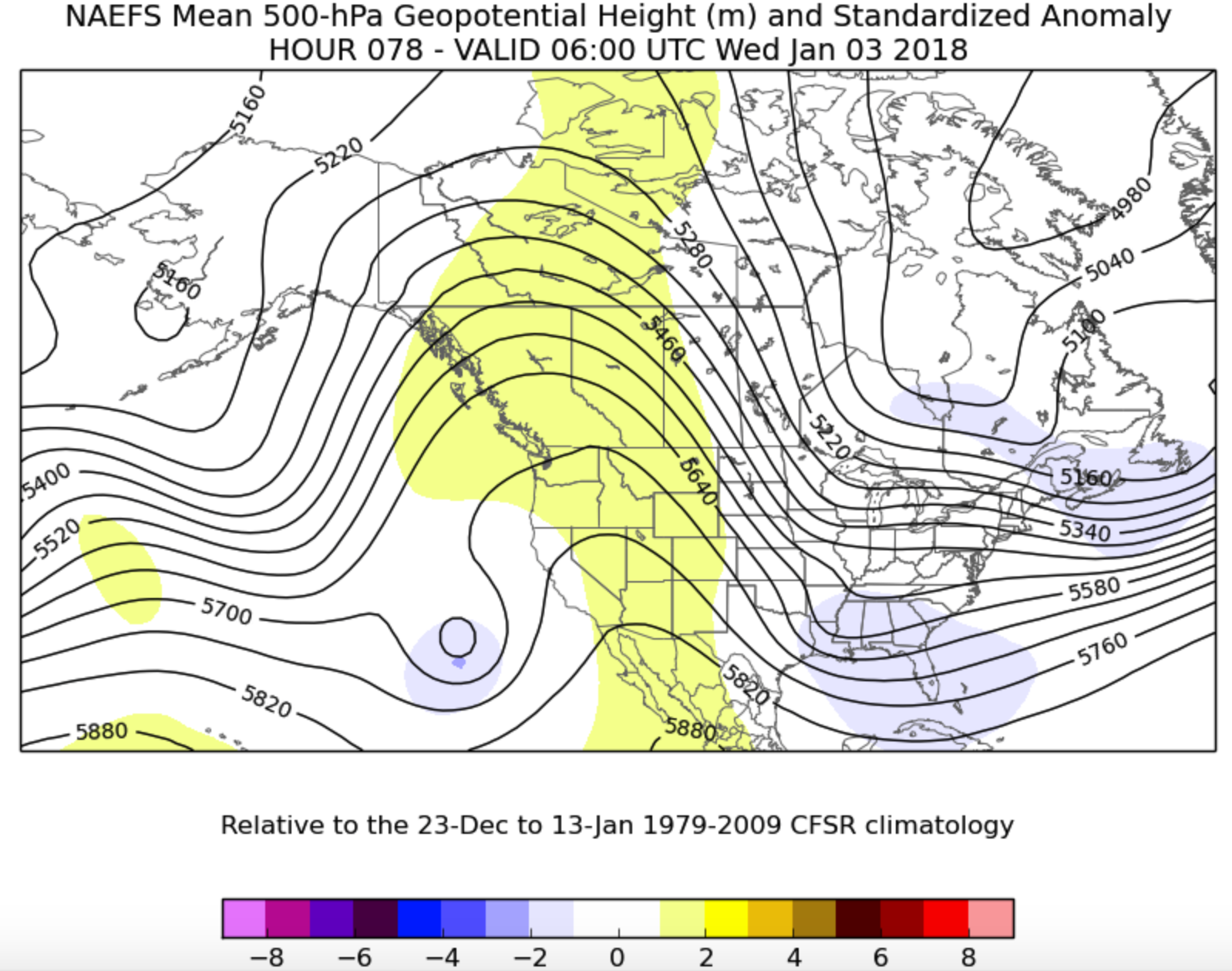 NAEFS mean 500 mb heights valid Tuesday night (6Z Wednesday) via http://ssd.wrh.noaa.gov/satable/