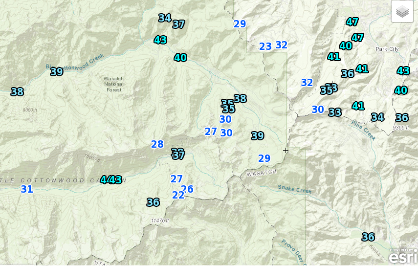 24-hour high temperatures as of 5:51 PM MST. Via NWS.