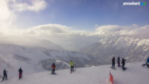 Clouds breaking at 3:45pm after a day of low visibility and fluffy snowfall! http://prismcam.com/demos/snowbird-peaks/