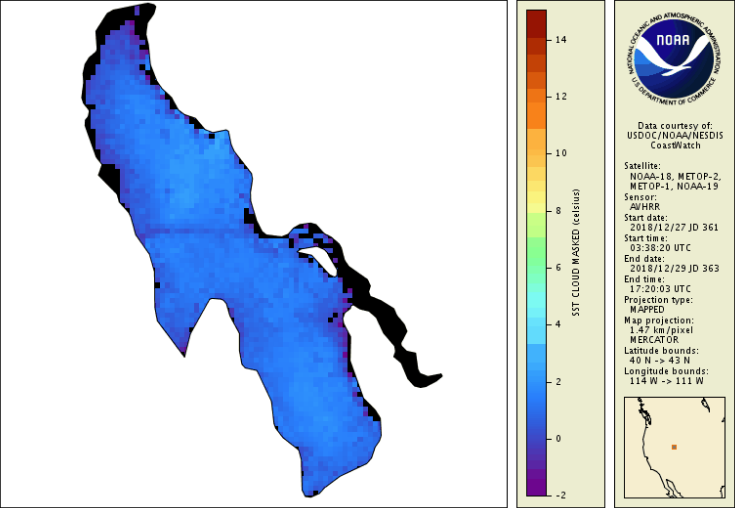 Great Salt Lake Surface Temperature