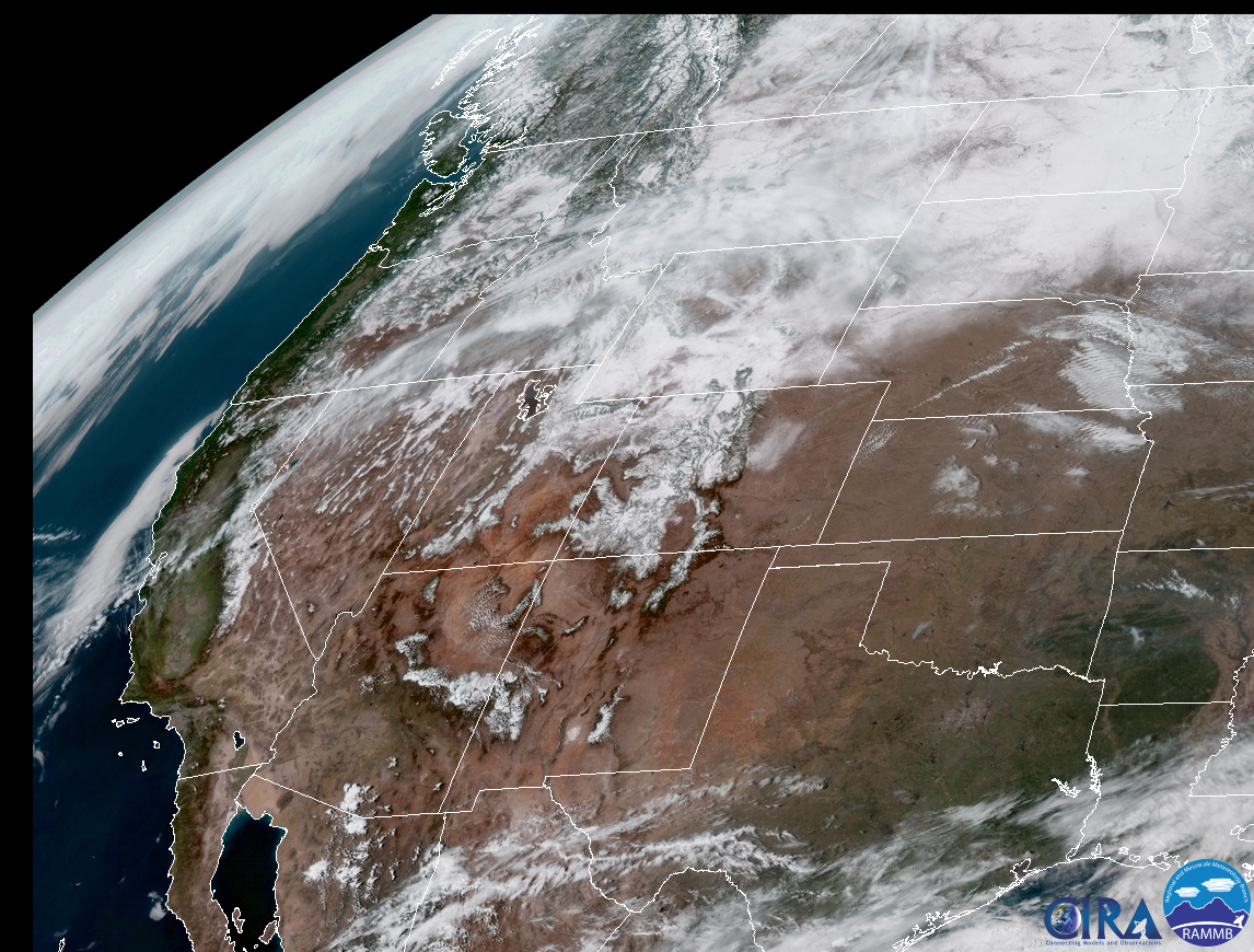 GOES-16 Imagery via CIRA